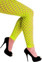 Legging met Gaten Neon Geel Luxe