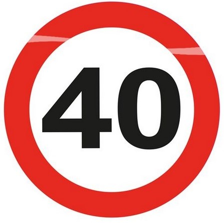 LED Button 40 Jaar