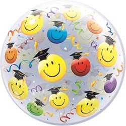 Bubble Ballon Geslaagd - Graduate Smileys