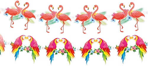 Slinger Flamingo Dubbelzijdig Papier (3m)