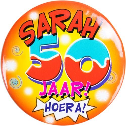Button Sarah 50 jaar! Hoera!