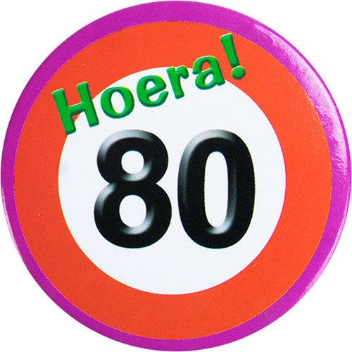 Button Hoera 80!