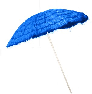 Parasol Hawaii 1,8mtr Blauw