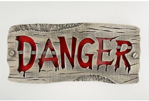 Hangend Bord DANGER+Licht