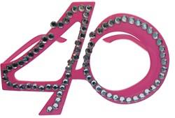Bril 40 jaar Diamant Roze
