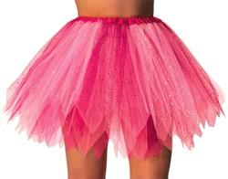 Glitter Tule Rokje Wit/Pink