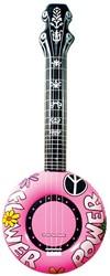 Opblaasbare Banjo Roze