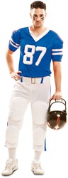 Herenkostuum Rugby Player Blauw/Wit