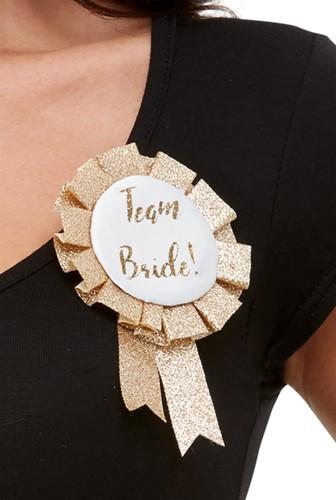 Rozet Team Bride Glitter Goud