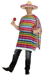 Mexicaanse Poncho Rainbow