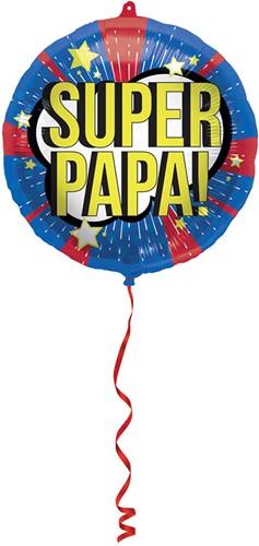 Folieballon 'Super Papa!' (45cm)