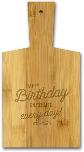 Borrelplankje Happy Birthday