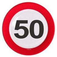 Bordjes 50 jaar Verkeersbord 8st