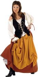 Damesjurk Middeleeuwse Boerin