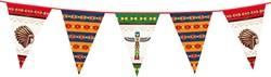 Reuzenvlaggenlijn Indianen 6mtr.