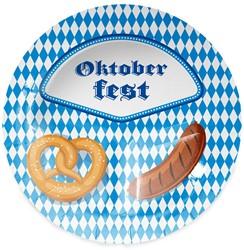 Bordjes Oktoberfest Pretzel & Worst 8st. 23cm