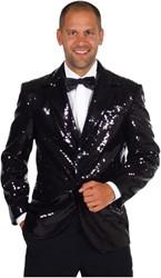 Colbert Pailletten Luxe Gevoerd Zwart