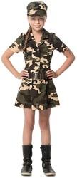 Meisjeskostuum Army Girl Luxe