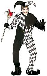 Halloweenkostuum Clown Joker Zwart/Wit