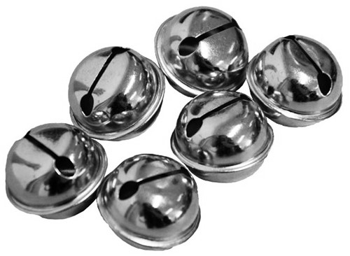 Belletjes 26mm (12x) Zilver