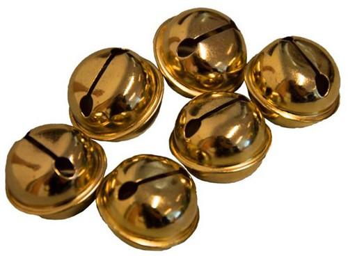 Belletjes 30mm (6x) Goud