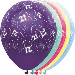 Ballonnen 21 jaar Metallic 5st