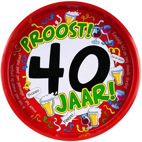Dienblad Hoera! 40 jaar!