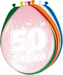 Ballonnen 50 Sarah 8st
