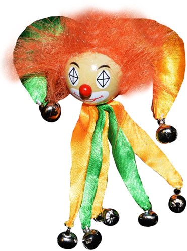 Clowns Broche Geel/Groen
