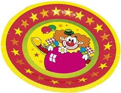 Bordjes Clown 8 stuks