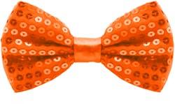 Pailletten Strikje Neon Oranje