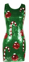 Kerst Jurkje Pailletten Groen
