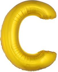 Folieballon Letter C Goud 100cm