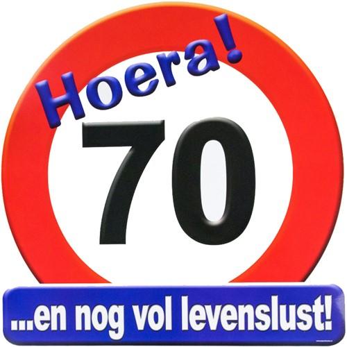 Huldeschild Hoera 70