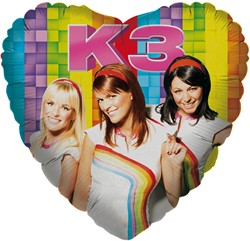 Folieballon K3 Regenboog