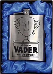 Zakfles rvs Vader