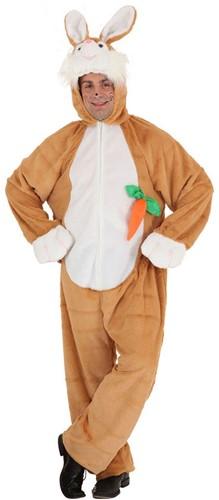 Paashaas Bruin met wortel Heren