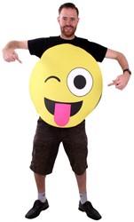 Kostuum Emoticon Smiley met Tong en Knipoog