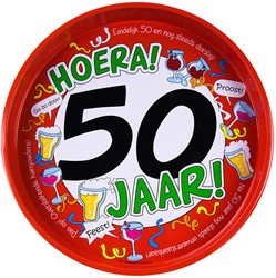 Dienblad Hoera! 50 jaar!