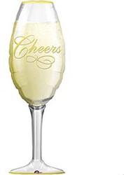 Folieballon Glas Cheers 95x35cm