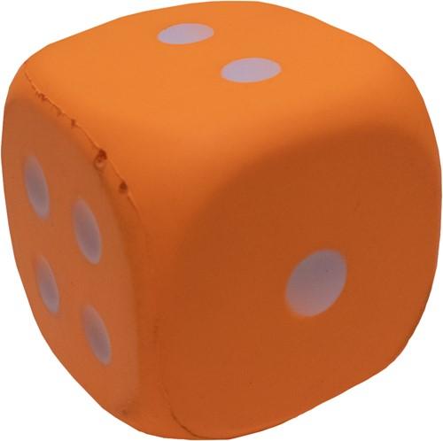 Dobbelsteen 12cm Oranje