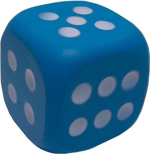 Dobbelsteen 12cm Blauw