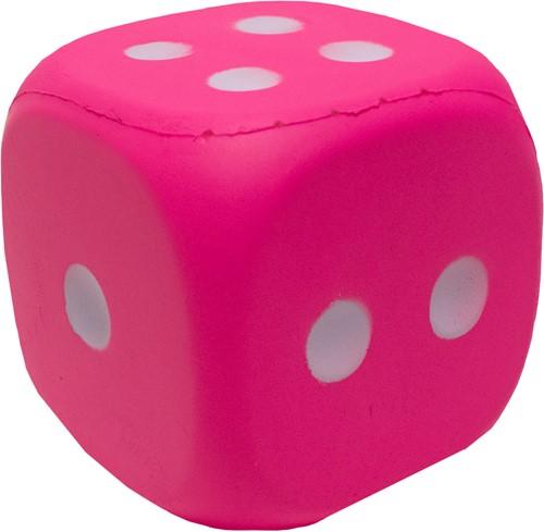Dobbelsteen 12cm Pink