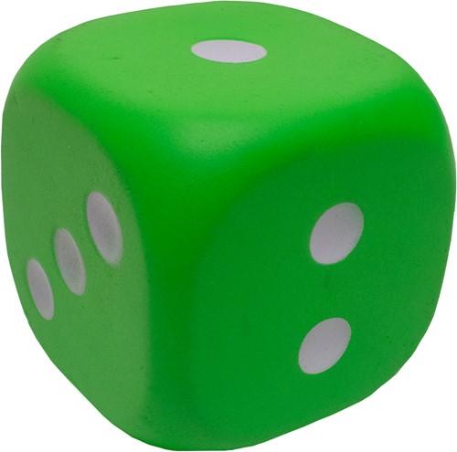 Dobbelsteen 12cm Groen