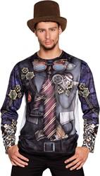 Heren T-shirt Steampunk (fotorealistisch)