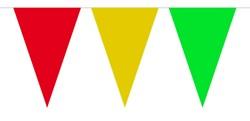 Vlaggenlijn Rood/Geel/Groen 10mtr