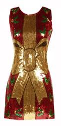 Kerst Jurkje Pailletten Rood