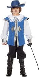 Musketier Kostuum Blauw