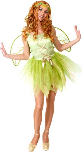 Dameskostuum Tinkerbell + Vleugels
