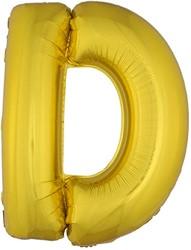 Folieballon Letter D Goud 100cm
